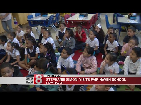 News 8's Stephanie Simoni visits Fair Haven School