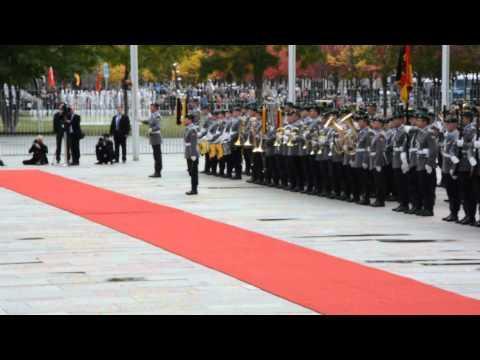 Chinesischer Ministerpräsident Li Keqiang bei Angela Merkel