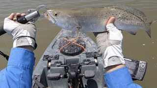 GOOD Speckled Trout Bite! Kayak Fishing Texas