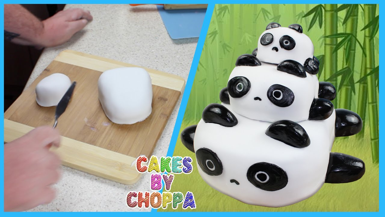 panda bear cake template - panda cake stackable how to doovi