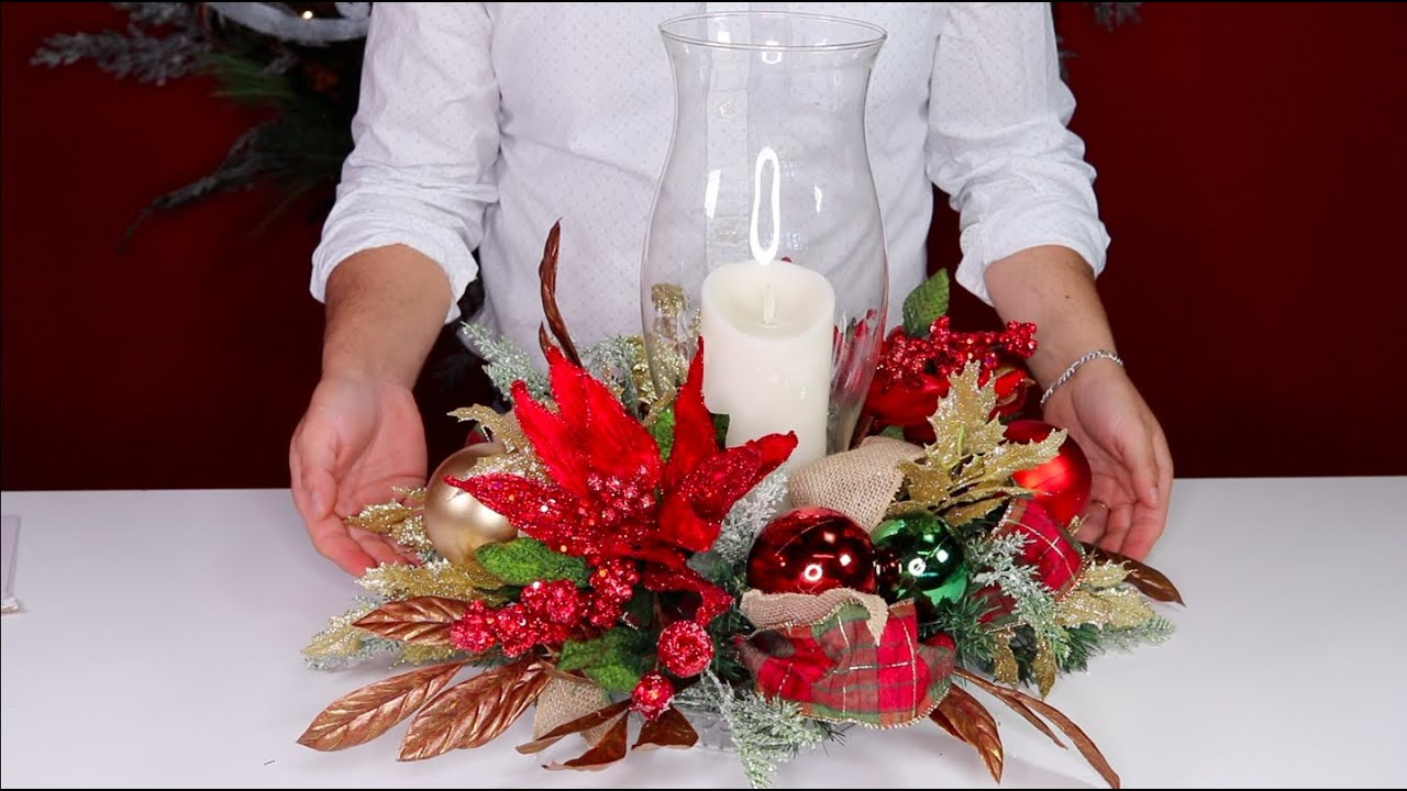 How To Make A Christmas Centerpiece On A Budget Olivia S