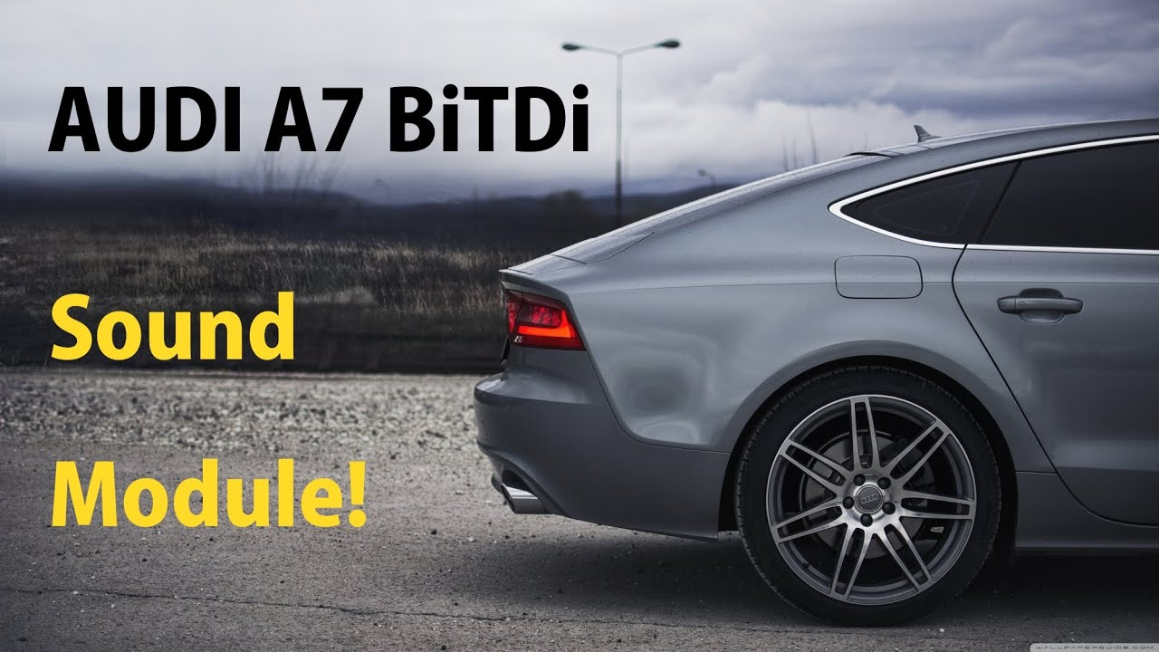 audi a7 bitdi with sound module start up driving youtube. Black Bedroom Furniture Sets. Home Design Ideas