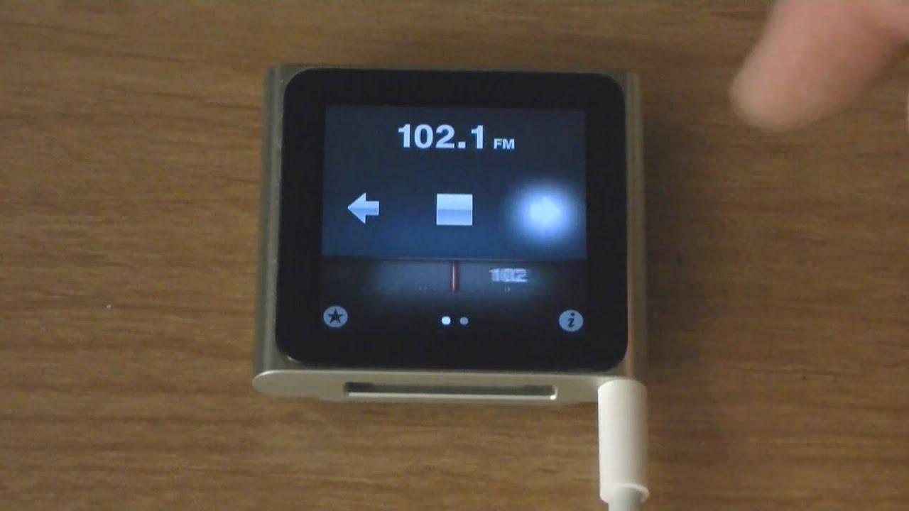 FM Radio + Live Pause - iPod Nano 6G - YouTube