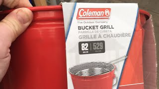 Coleman Party Pail for 90¢: Chicken Strips on a Bucket Grill
