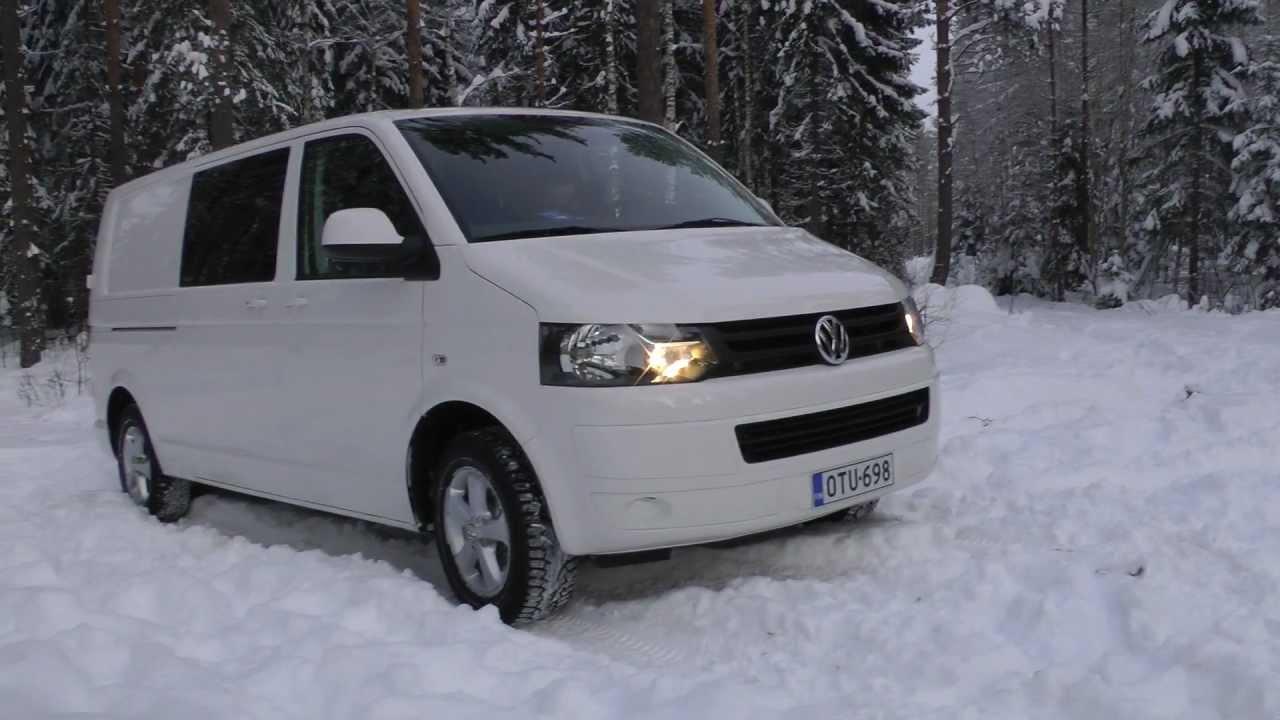 transporter t5 blue 4motion light snow driving youtube. Black Bedroom Furniture Sets. Home Design Ideas