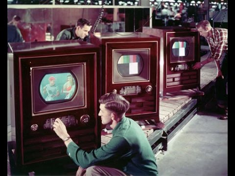this week in tech history first color tv sets into tomorrow youtube. Black Bedroom Furniture Sets. Home Design Ideas