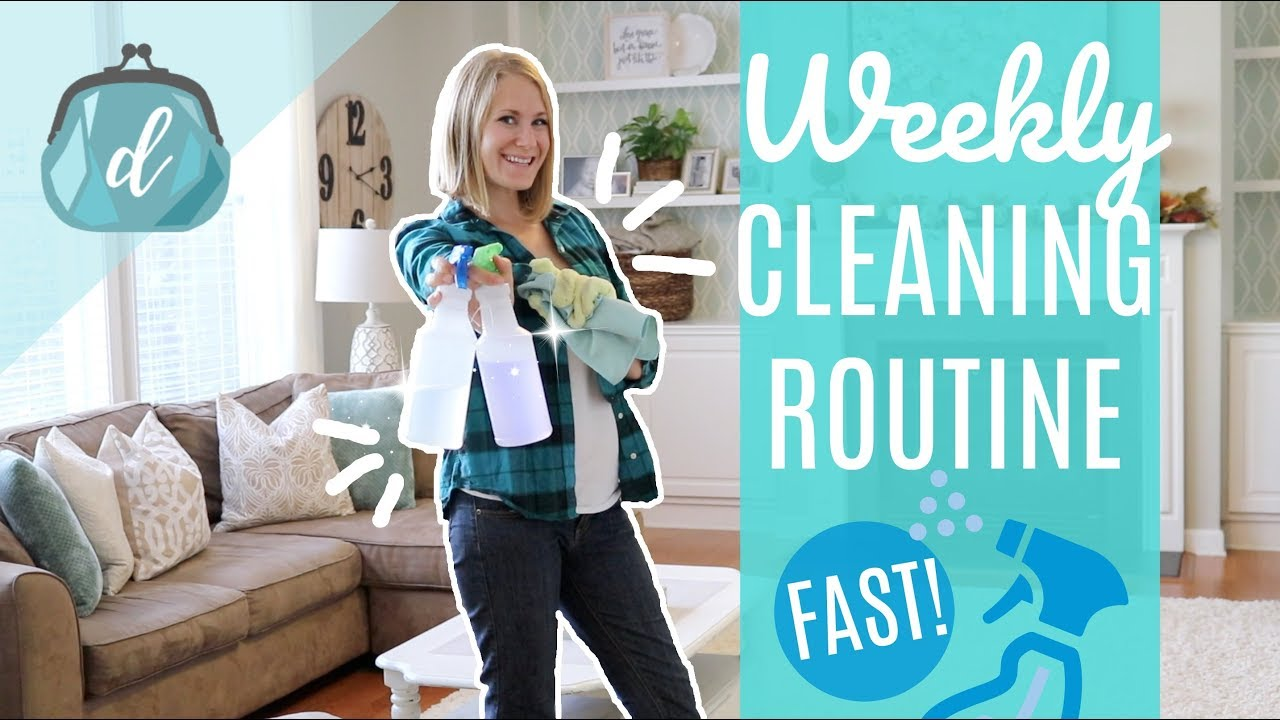 Clean My Whole House With Me Fast Organized Weekly Cleaning Routine Motivation