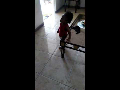 Baby Dancing to DJ Bravo Champion