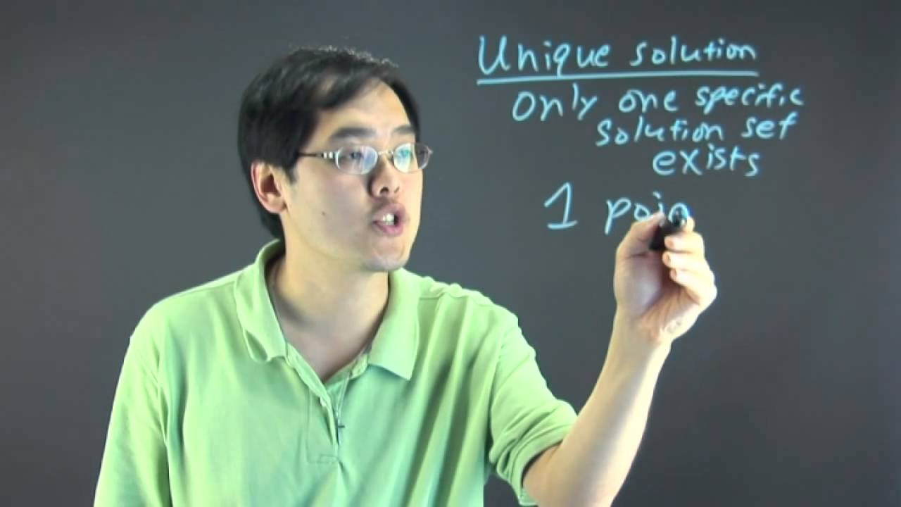 What Is a Unique Solution in Linear Algebra? - YouTube