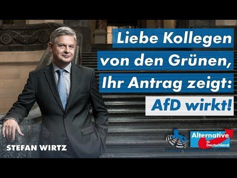 Liebe Kollegen von den Grünen, Ihr Antrag zeigt: AfD wirkt! Stefan Wirtz, MdL (AfD)
