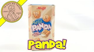 Meiji Hello Panda Vanilla Flavored Cookie - Japanese Candy & Snack Food Tasting