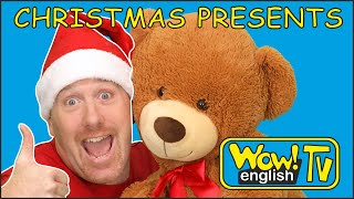 Opening, Unboxing Christmas Surprise Presents | Toys for kids with Steve and Maggie | Wow English TV