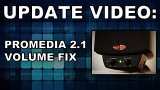 Klipsch Promedia 2.1 Speakers Follow up video