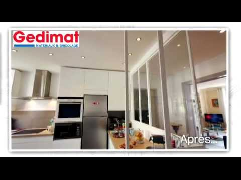 cuisine ouverte fa on atelier gedimat ma maison s 39 agrandit se r nove youtube. Black Bedroom Furniture Sets. Home Design Ideas
