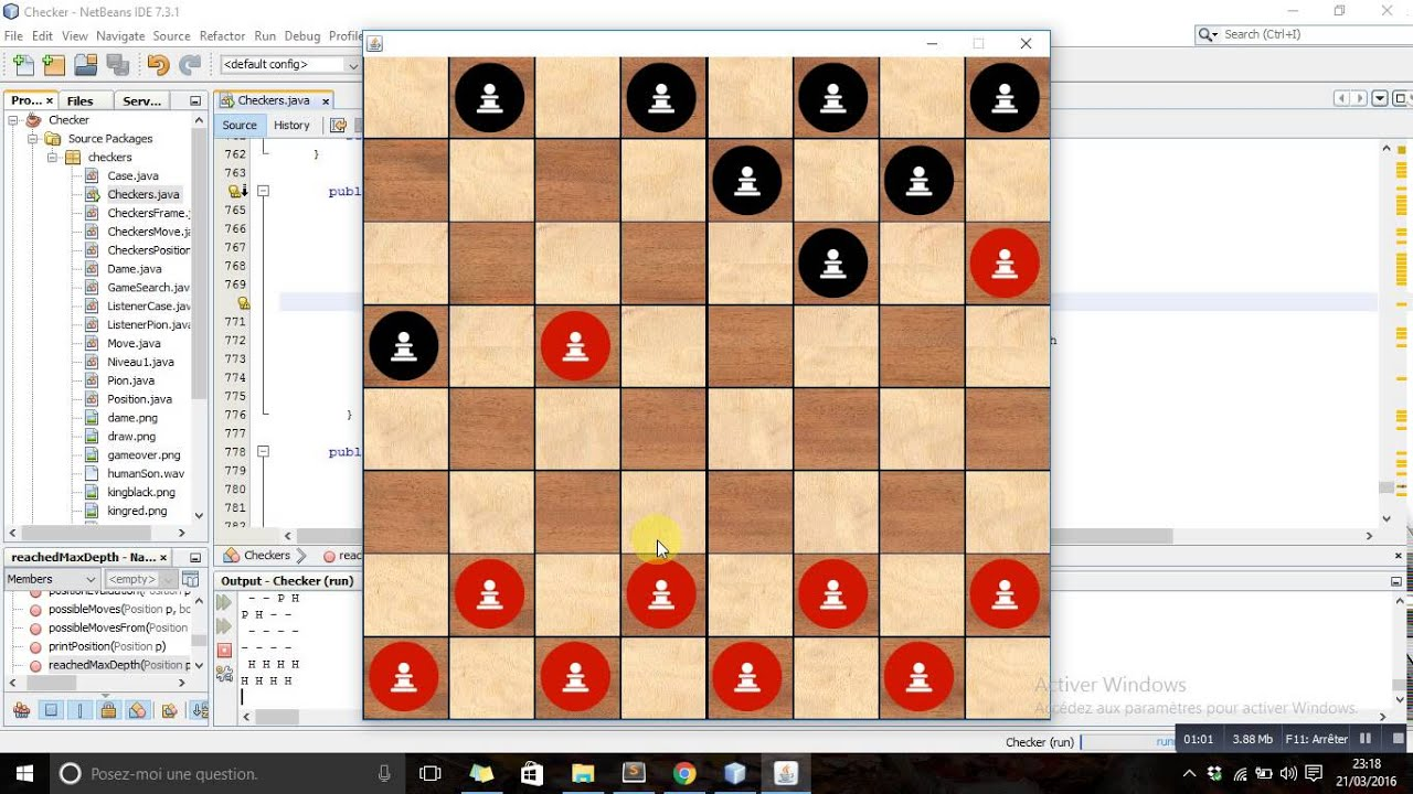 Checkers Game Using AI ( Alpha Beta Pruning ) en JAVA