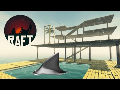 RAFT SAVE FUNCTION UPDATE! Our 4 Story Raft is Underway, Shark Attacks and Farming - Raft Gameplay