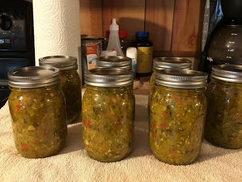 Canning Zucchini Relish and My CRAZY Boy!!