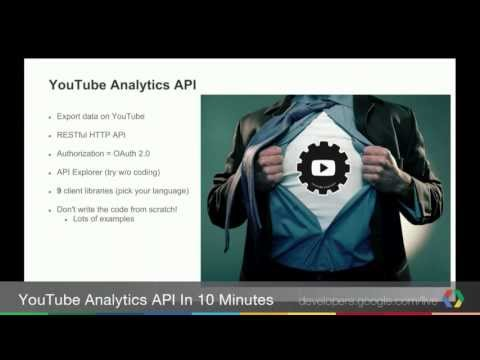 YouTube Analytics API in ~10 minutes