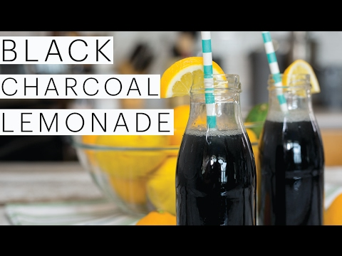 DIY BLACK CHARCOAL Lemonade Recipe | CHEAP Hangover Cure | Detoxify Your Body | The Edgy Veg
