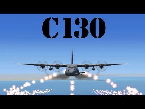 Máy bay vận tải C130 có súng