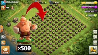 500 Boxer Giants Vs 200 Giant Cannon | COC Private Server | Clash Of Clans Hack / Glitch
