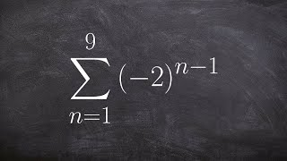 Pre-Calculus - Find the partial sum of the geometric series