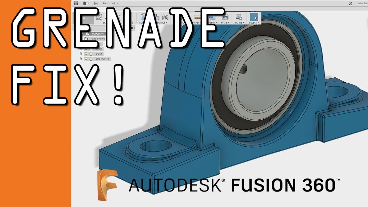 Fusion 360: Grenade a Corner to fix bad modeling! FF84 - YouTube