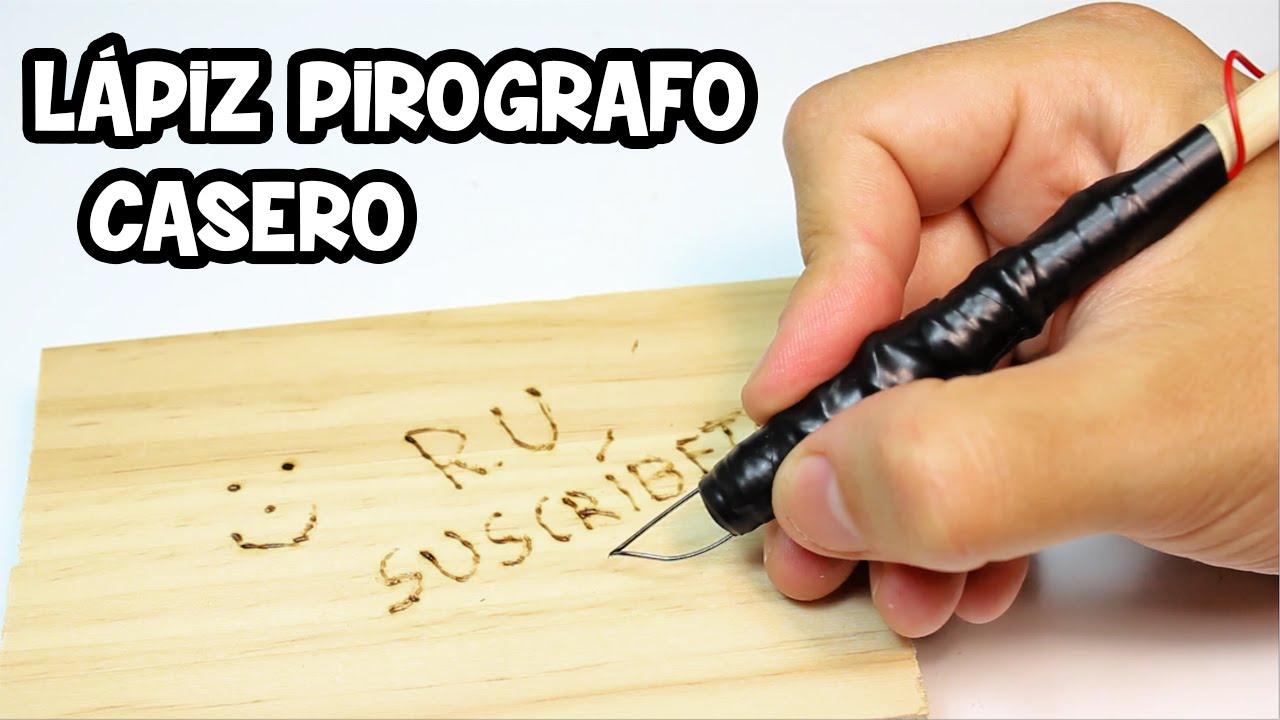 Lápiz Pirografo Casero Para Grabar En Madera Youtube