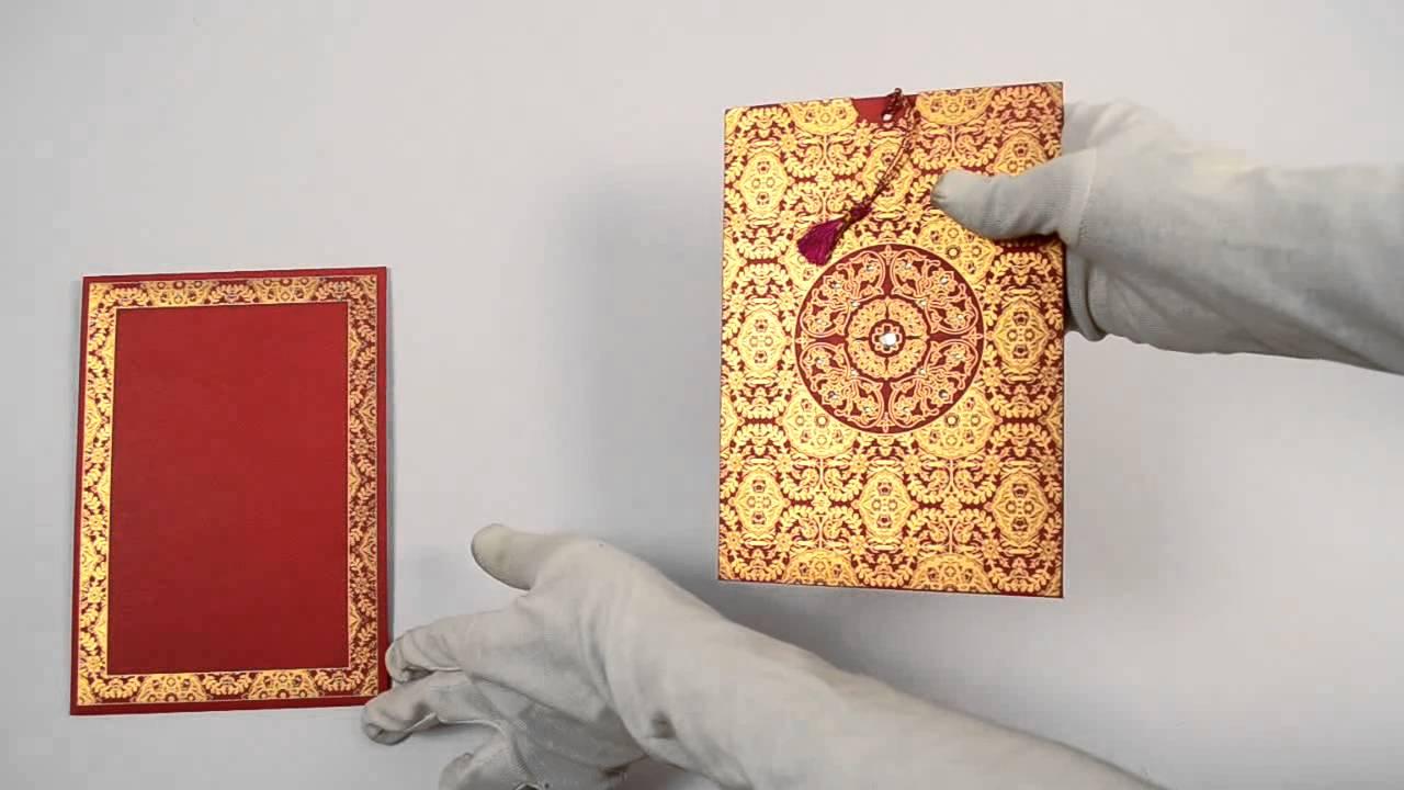 D-5949, Red Color, Designer Multifaith Invitations, Wedding Card,  Multi-Faith Wedding Invitations - YouTube