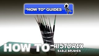 USING & CARING FOR SABLE PAINT BRUSHES