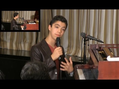 """Ethan Bortnick: """"Speech and performance by 13-year-old prodigy"""""""