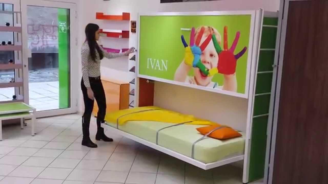 kreveti na podizanje na zid Zidni krevet na sprat ZP2   Wall Bunk For 2 people   YouTube kreveti na podizanje na zid