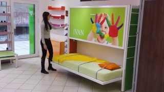 Zidni krevet na sprat ZP2  - Wall Bunk For 2 people