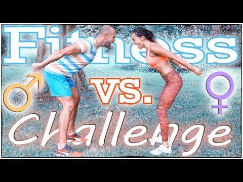 Fitness Challenge - Mann vs. Frau - Hardcore HIIT Workout - 20 verschiedene Übungen - 20 Minuten