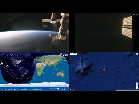 Sunset Over Asia And Pacific - ISS Space Station Earth View LIVE NASA/ESA Cameras And Map - 77