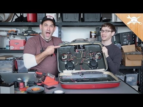 DIY Vintage Suitcase Speaker Gets Battery Power! - YouTube
