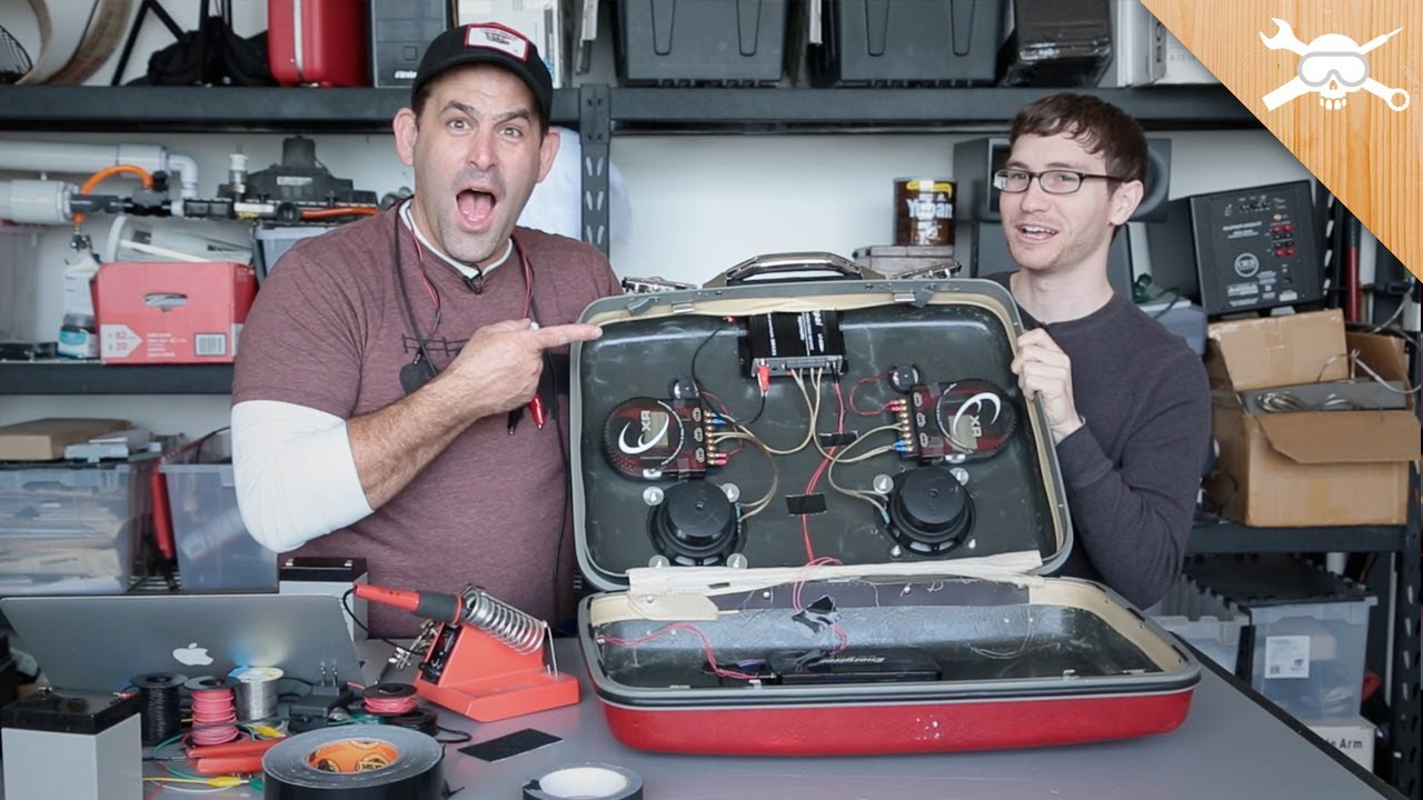 DIY Vintage Suitcase Speaker Gets Battery Power! - YouTube