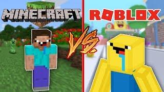 MINECRAFT VS ROBLOX ? Roblox Cerso in Spanish