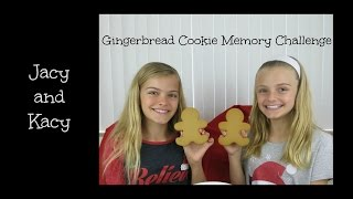 Gingerbread Cookie Memory Challenge ~ Jacy and Kacy