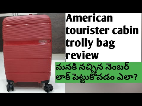    American Tourister hard sided cabin trolly bag review   how to set a number lock   