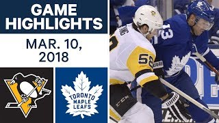 NHL Game Highlights | Penguins vs. Maple Leafs - Mar. 10, 2018