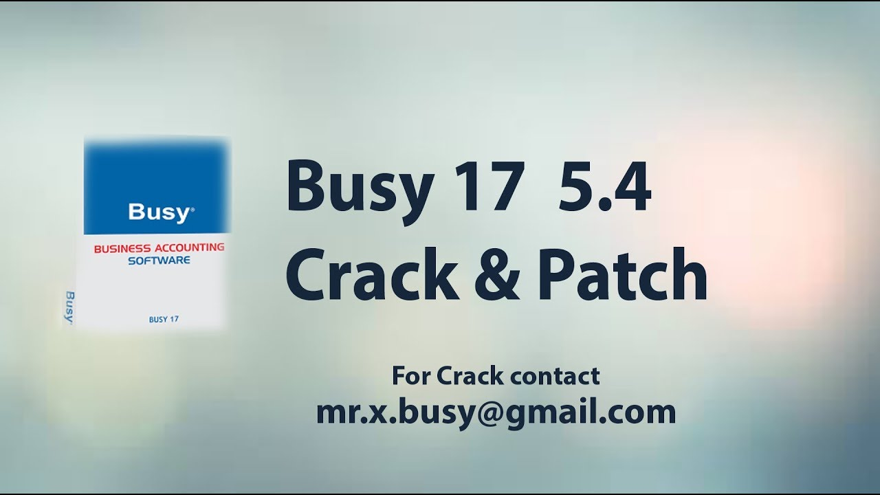 Busy 17 rel 5 4 crack free download with gst ready 100% working.