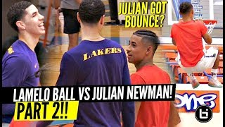 LaMelo Ball vs Julian Newman PART 2!! Melo TALKIN NON STOP TRASH! Julian DUNKING? thumbnail