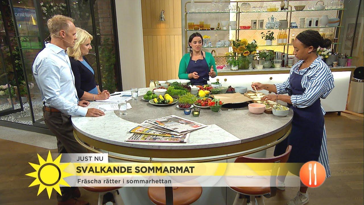 Svalkande sommarmat i värmen - Nyhetsmorgon (TV4)