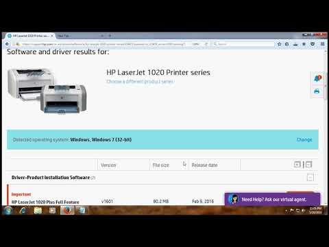 HP Laserjet 1020 Printer Driver, Download