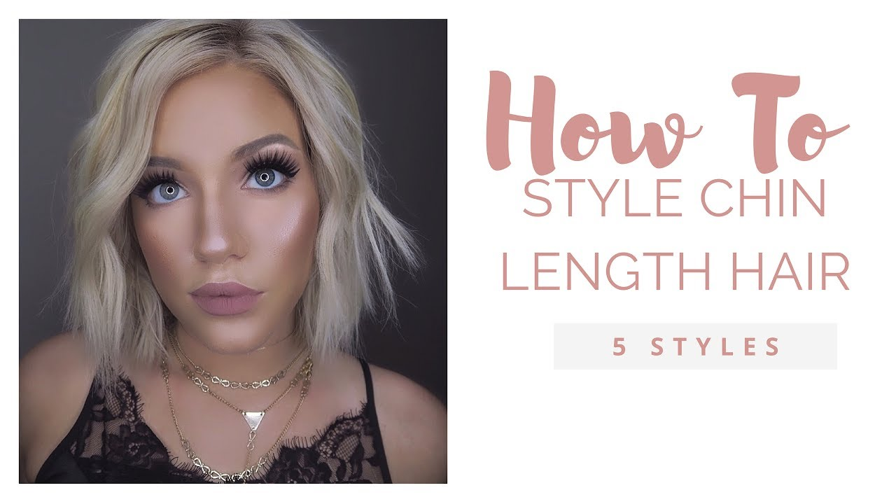 best ways to style hair how to style a chin length bob 1354