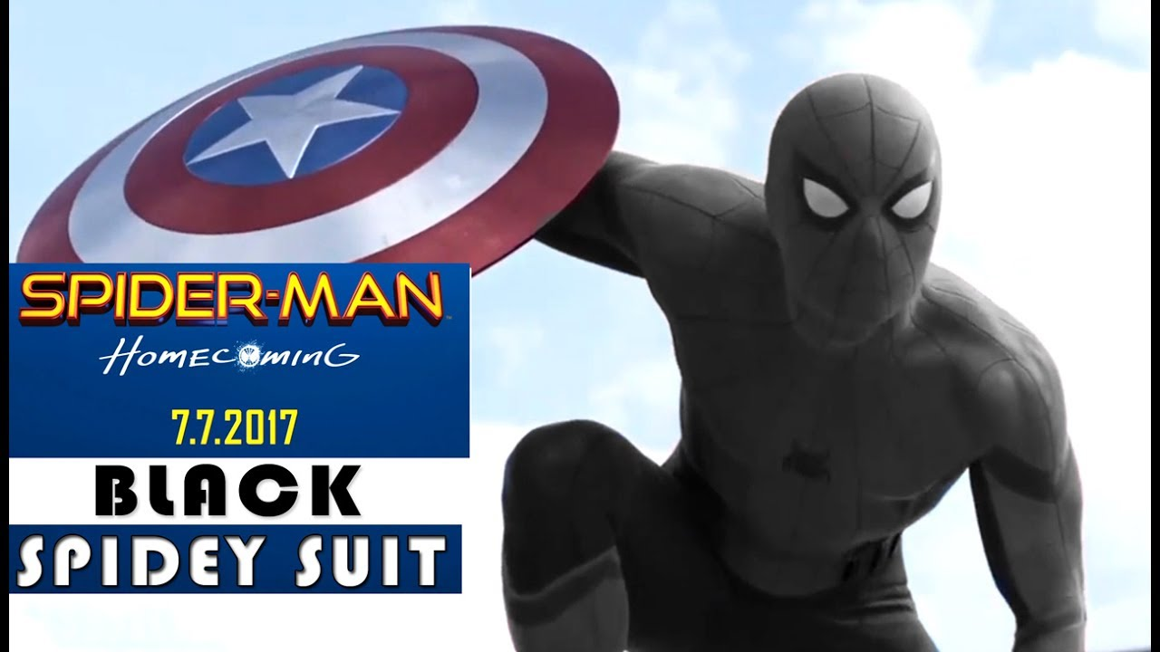 Spider man homecoming spider man black suit teaser for How to stop spiders coming in your home
