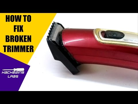 How to fix / repair a trimmer | hair clipper not working | DIY Tutorial | Hackezing