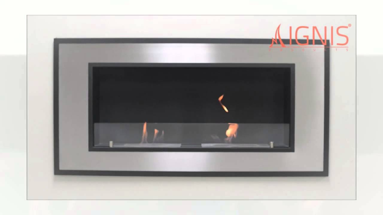 bellezza wall mounted bio ethanol fireplace by ignis youtube
