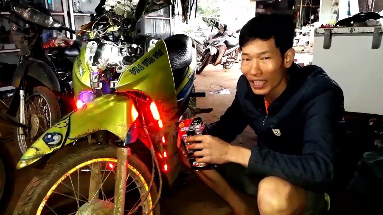 Độ Đèn LED Police Cho Xe Wave,Hướng Dẫn Lắp Đèn LED Cảnh Sát